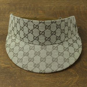454974e2 Gucci Accessories | Brown Monogram Fabric Visor Tennis Hat | Poshmark